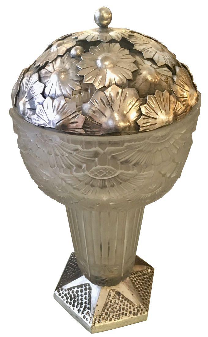 George Leleu French Art Deco Table Lamp 1920s