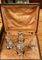Sandoz Animal Silver Knife Rests with Salt and Pepper Set Rare for Christofle Galia