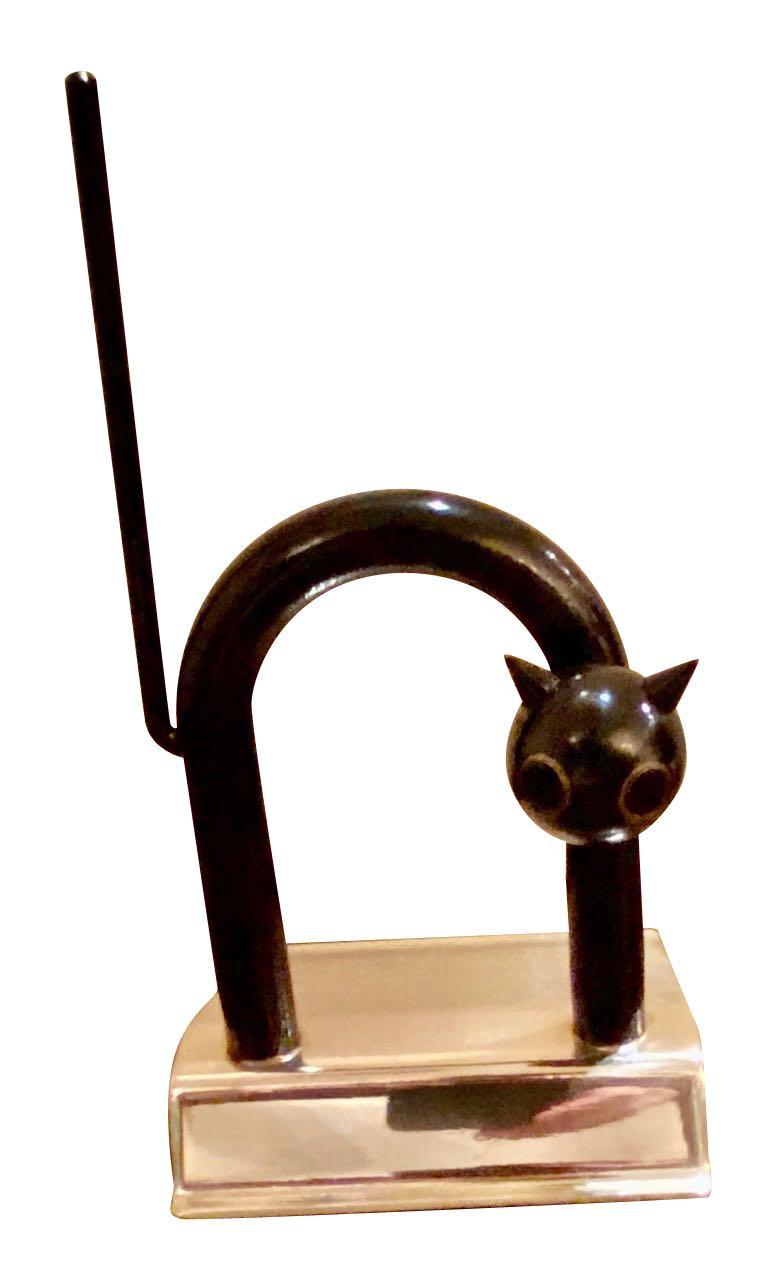 Chase Art Deco Cat Doorstop by Walter Von Nessen