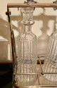 Silver and Glass Tantalus Cocktail Decanter