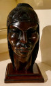 Exotic Indian Art Deco Sculpted Head in Wood by Arias