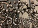Edgar Brandt Gingko Leaves Chandelier 4 Daum Glass Shades Signed