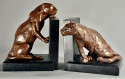 Lionesses Art Deco Bookends by Rodger Godchaux