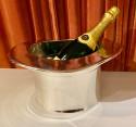 Art Deco Silver Top Hat Champagne Bucket