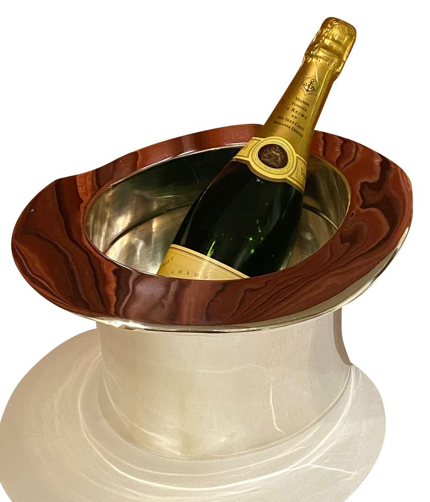 Silver Top Hat Champagne Bucket