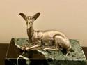 Art Deco Bronze Deer Sculpture by Georges Lavroff 1930