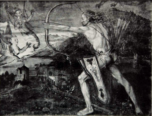 The title of this work is Hercules. Signed by Victor Demanet, a famous French artist