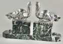 Art Deco Bookends Sculpture of Cats by H. Moreau