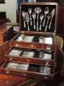Complete  Silver Set in Wooden Chest by Calderoni