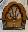 Philco Restored Tube Radio Model 70 Cathedral (1933) with Mini-Jack for Bluetooth