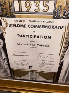 Commemorative Diploma for Belgian Artistic Art Deco Exposition