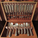 Art Deco Silver-plate Set in Streamline Wooden Box