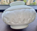D'AVESN Art Deco Vase With Lions And Lioness Rare Opaque Glass