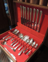 1929 Silverware Set in Deauville Pattern Service for Eight