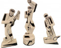 French Modernist Cubist Trio of Musicians designed by Primavera