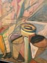 Elisabeth Ronget French Cubist Jazz Trio Painting Art Deco