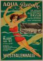 Aqua Parade German Swimming Poster Art Deco
