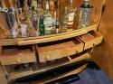 Art Deco English Hille Glamour Bar Peach Mirror