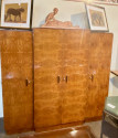 French Art Deco Amboyna Burl Armoire, Book or Storage Cabinet