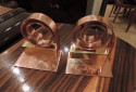 Chase  Copper Spiral  Bookends