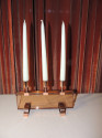 Art Deco Copper Candeabra with Peach Glass