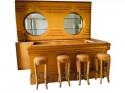 Art Deco Custom Full Bar Streamline Neon Storage