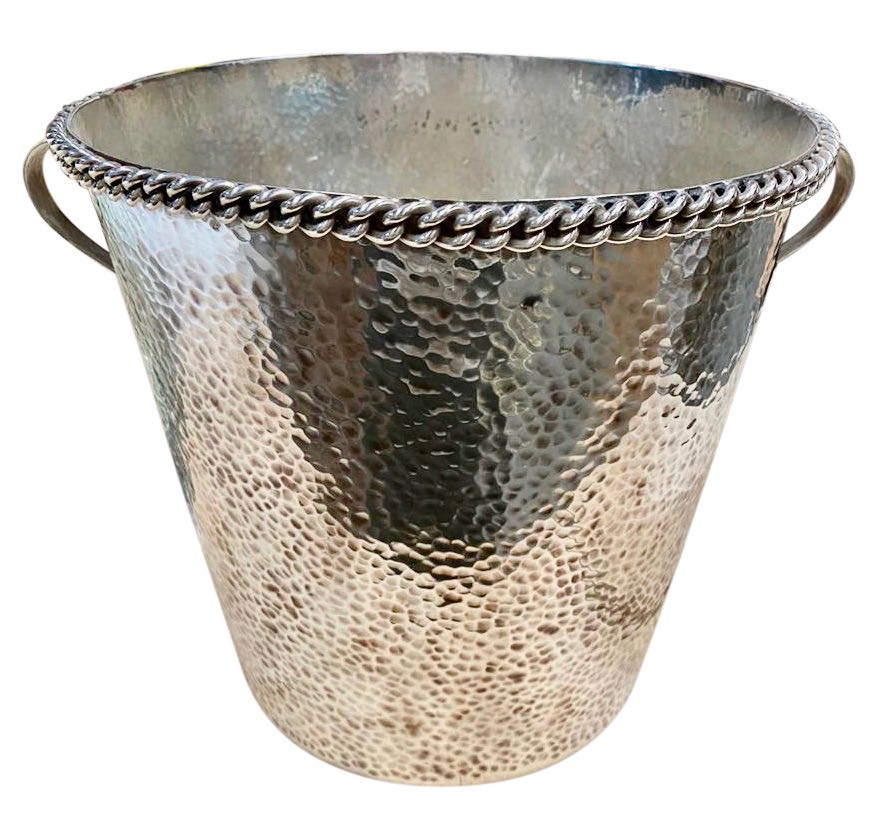 Jean Despres French Silver Metal Champagne Bucket