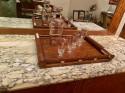 Art Deco French Custom Amboyna Burl Wood with Inlay Buffet
