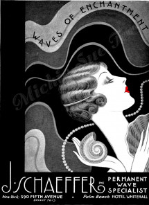 Art Deco Waves and Curls