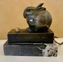 Art Deco Bronze Sculpture of a Rabbit by Edouard Marcel Sandoz, 1930 French