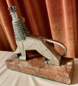 The Lion of Judah 800 Silver Statue by Artist Dejene from Addis Ababa