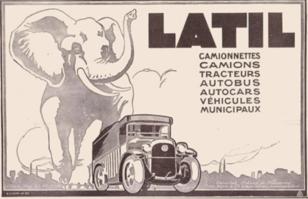 Latril elephant mascot