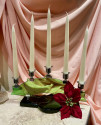 Art Deco Candelabra in Green Glass and Chrome