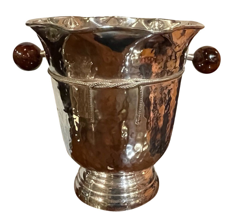 Art Deco Hammered Silver Champagne Bucket