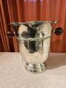 Art Deco Hammered Silver Champagne Bucket Bakelite Handles