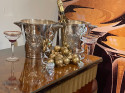 Pair of Silvered Champagne Bucket with Monopole of Reims Insignia