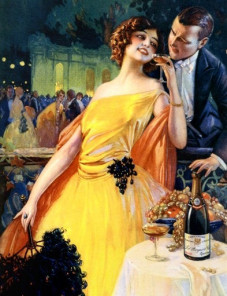 Champagne Poster Couple