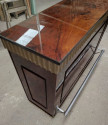 Art Deco Fluted Stand Behind Bar with Matching Stools