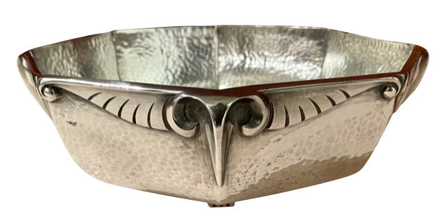 Galia for Christofle Silver Bowl with Rams Head