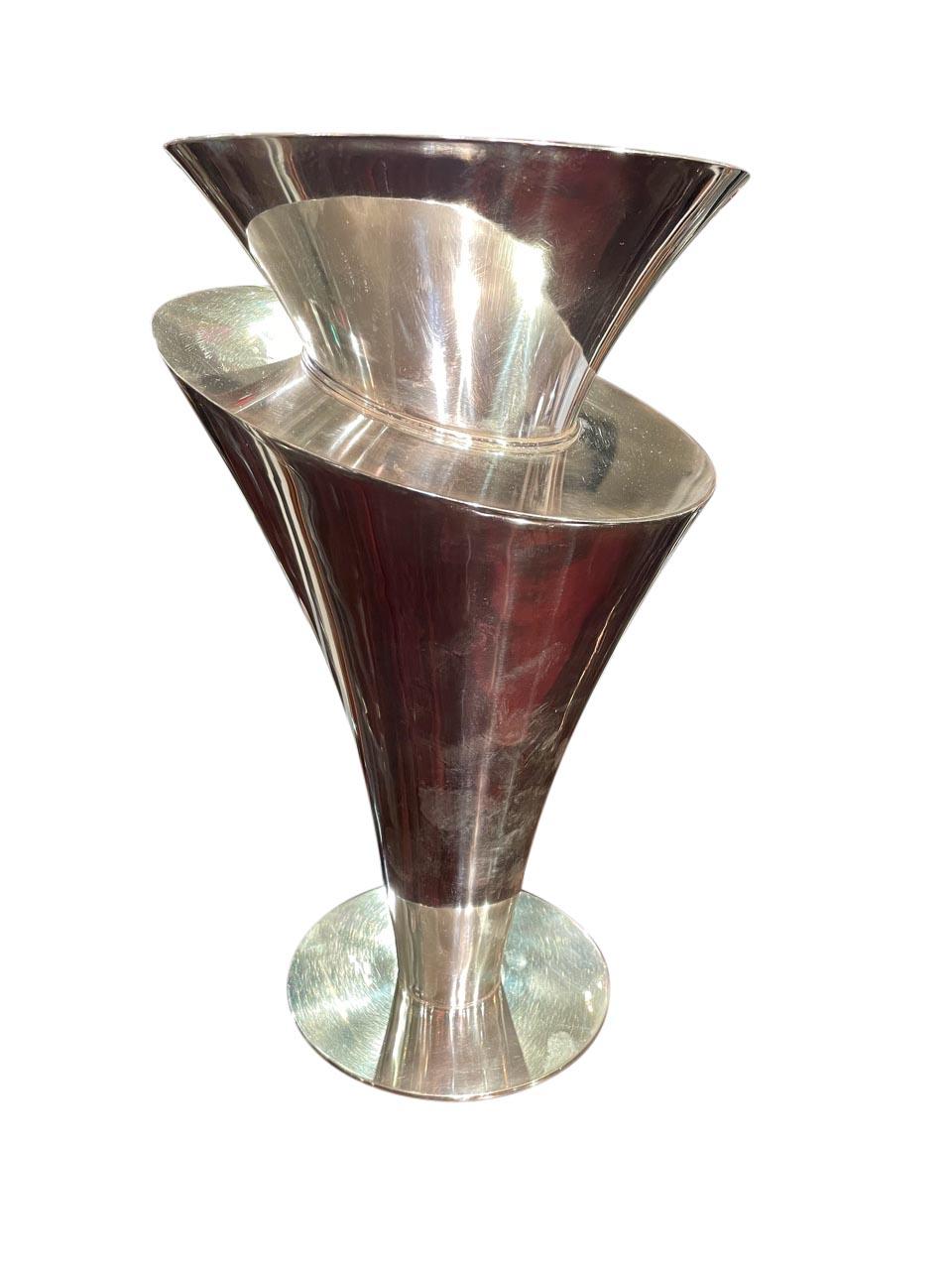 French Art Deco Modernist Vase by Maison Desny