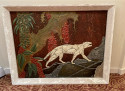 Art Deco Panther Painting French 1920s
