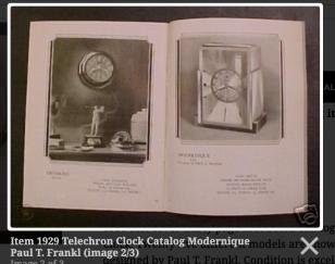 Art Deco Skyscraper Warren Telechron Clock Modernique by Paul Frankl, 1928