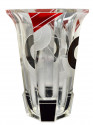 1930s Large Art Deco Karl Palda Czech Glass Vase