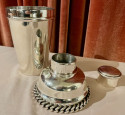 Jean Despres  Cocktail Shaker French Silver Plate Metal
