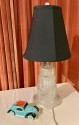 Sabino Art Deco Stepped Glass Table Lamp French