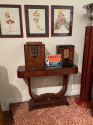 Art Deco U-shaped Dark Walnut Wood Console