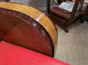 Modernist French Wood & Leather Club Chairs