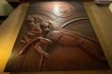 Art Deco Horse Bas Relief 1930's Interior Large Copper Design