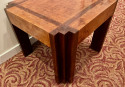 Art Deco Faceted Corners Unique Coffee or Side Table