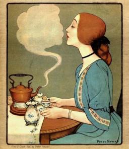 art nouveau tea time